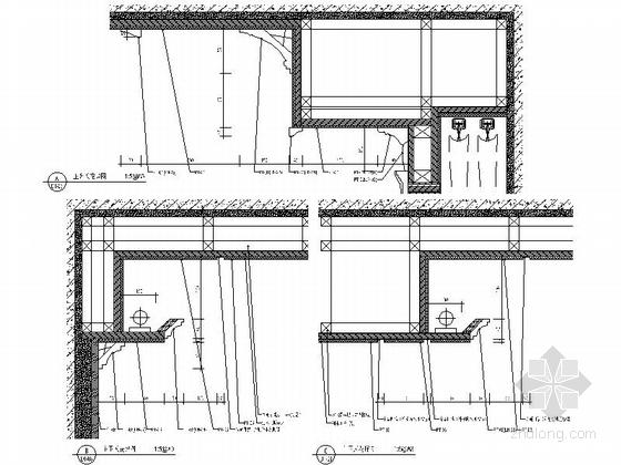 美式风格三居室设计装修图(含效果)天花大样图