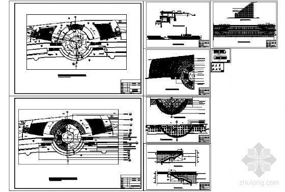 喷泉广场建筑施工详图-4
