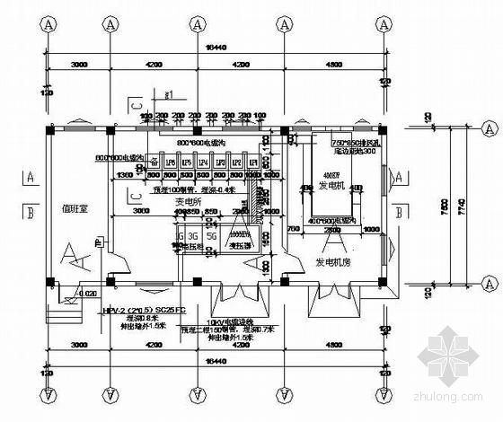 变电站变配电、照明、防雷接地系统图