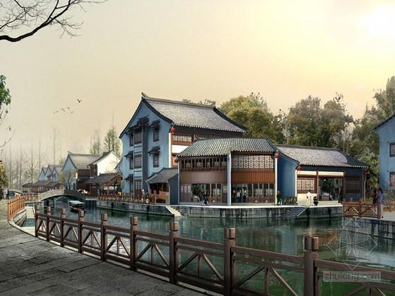 中国仿古建筑景观psd素材