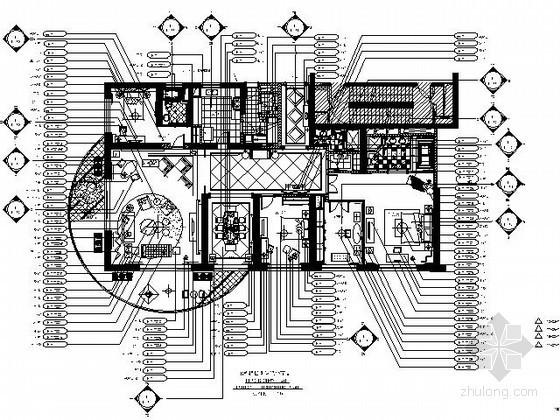 [上海]250㎡大户型样板间施工图(含实景)