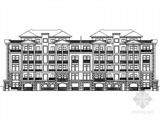 某四层花园洋房建筑施工图(带入户花园)