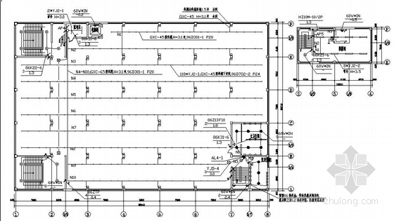四层工业厂房电气图