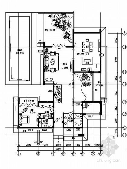 欧式豪华别墅平面施工图