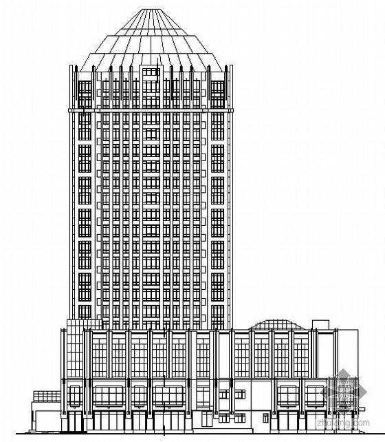 [南洋]某国际二十层商城建筑施工图