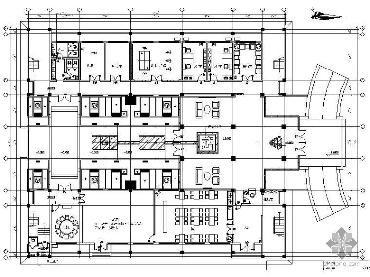 生活垃圾焚烧厂室内精装修工程图