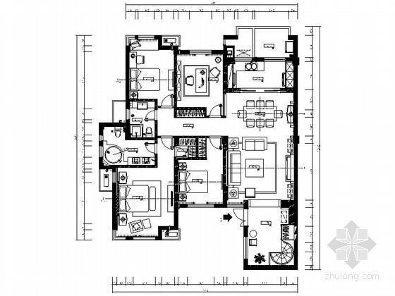 [浙江]某精品现代精装四居室样板房室内装修图(含实景)