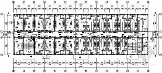 [河南]学院宿舍楼电气施工图纸