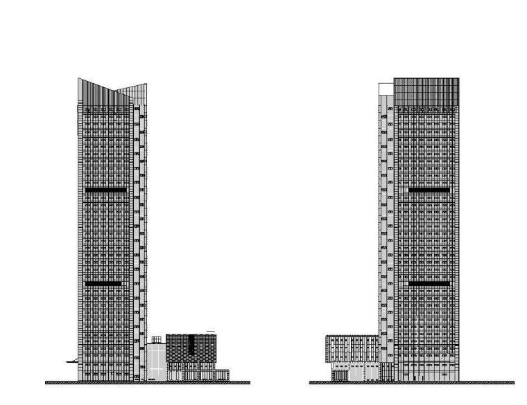 [江苏]南通行政办公楼国贸建筑施工图设计(同济大学建筑设计研究院)