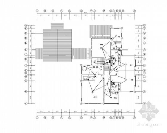 [河南]某别墅全套强弱电施工图纸(含照明节能设计)