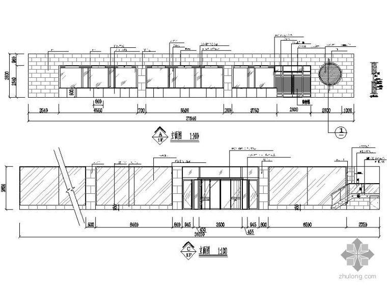 银行室内装饰工程施工图_2