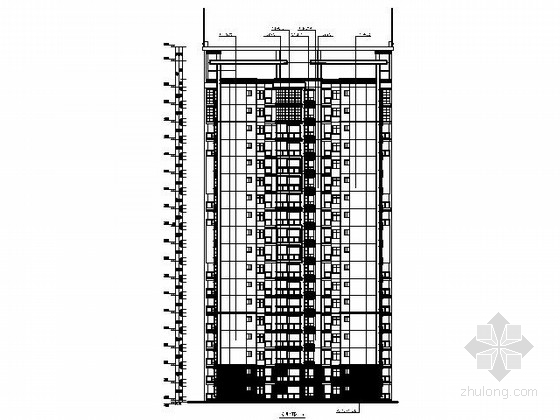 某十八层一梯六户住宅楼建筑扩初图(含效果图)-