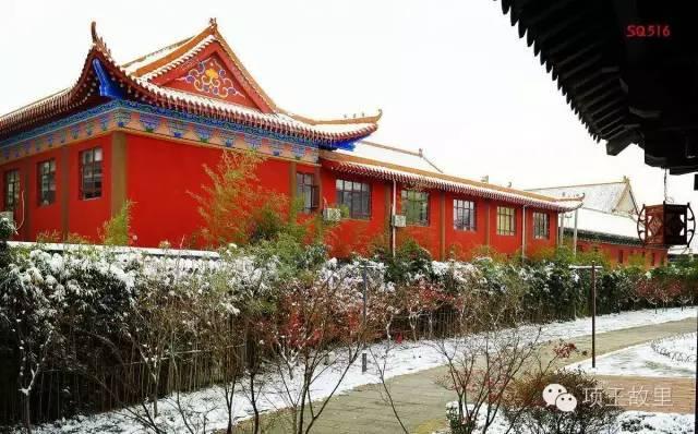 最美不过初雪,宿迁的项王故里就变成了西楚古城_12