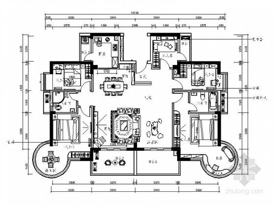 [深圳]新中式风格五居室装修图(含效果)