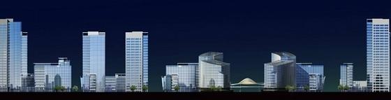 [福建]城市核心区软件园地块规划设计方案文本-城市核心区软件园地块规划立面图