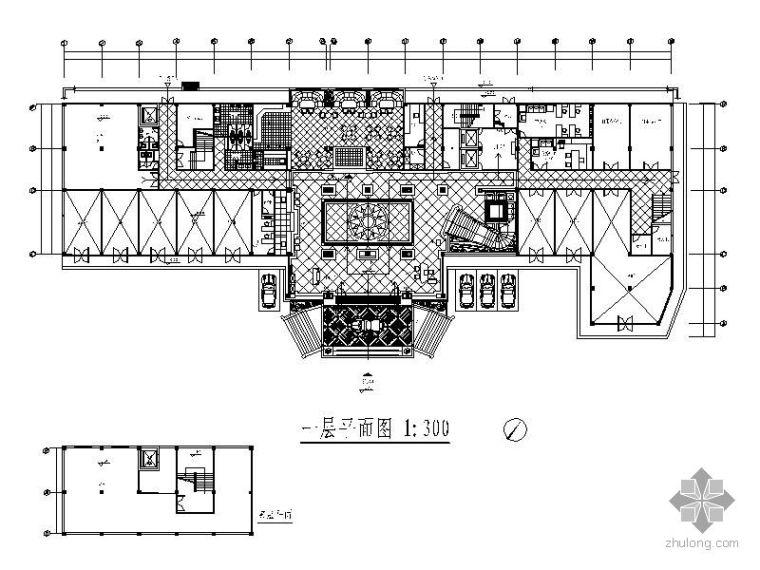 某五星酒店平面设计图