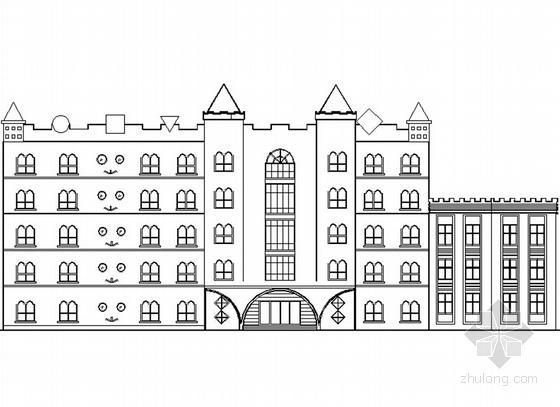 五层现代风格幼儿园建筑施工图