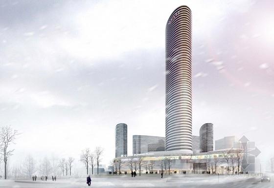 [江苏]繁华地段地标性多功能商业中心建筑设计方案文本