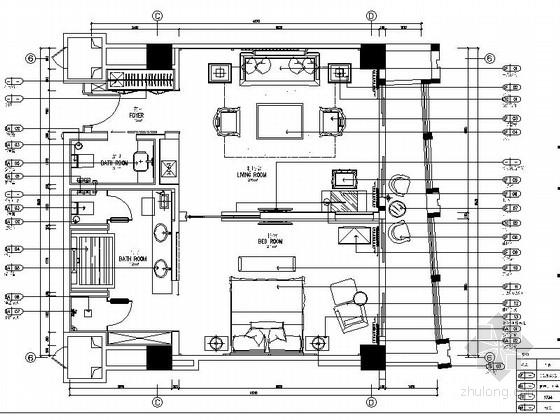 [云南]中式豪华酒店套房室内装饰设计CAD施工图