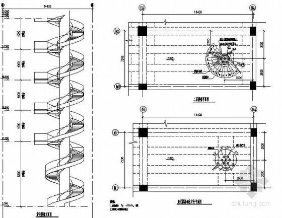 螺旋钢结构楼梯节点详图