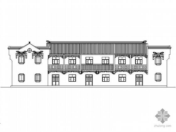 [九华山]某复式徽式商住楼建筑施工套图