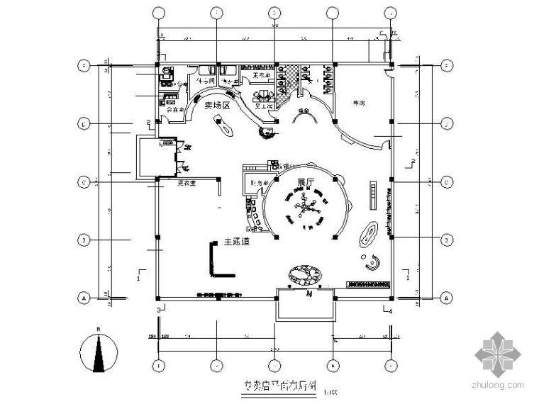 [毕业设计]某女装专卖店设计图(含效果)