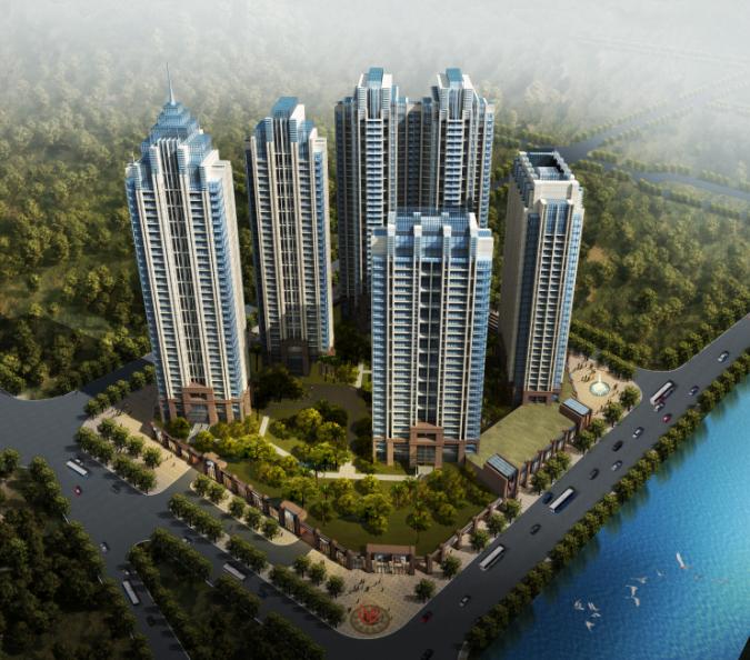 [深圳]简洁现代风格花园住宅区规划设计(含cad)