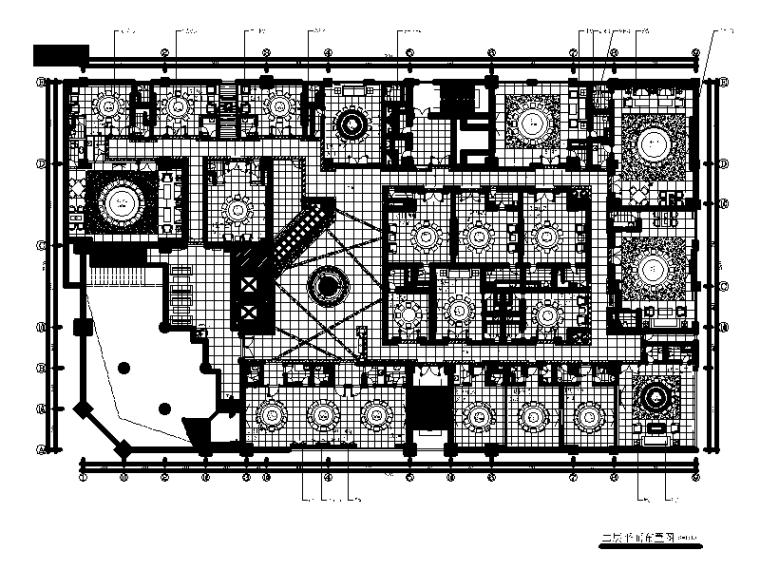 [福建]福清某大酒店中餐厅设计CAD施工图(含效果图、实景图)