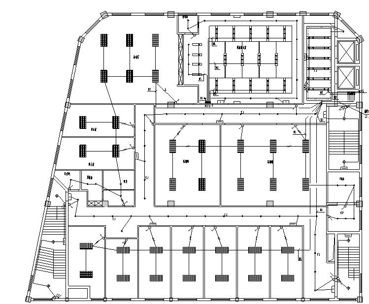 ups电源切换资料下载-办公大楼室内照明强电设计图纸