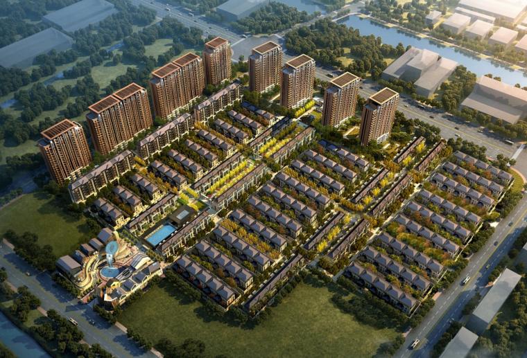 [上海]海派中式别墅区建筑设计方案文本(天地云墅,现代典雅)