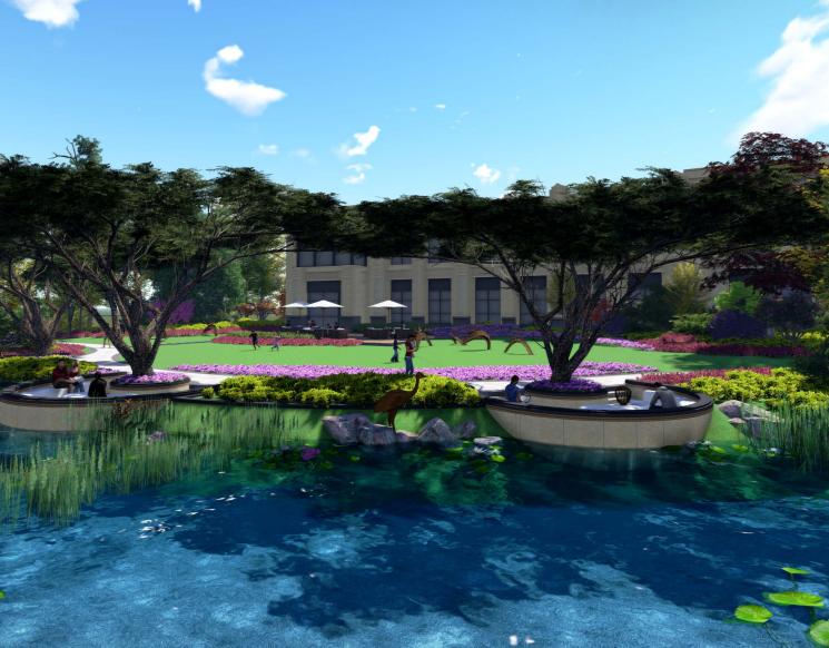 [苏州]金厦张家港展示中心概念方案设计-[苏州]金厦张家港梁丰生态园南侧地块展示中心概念方案设计A-0透视图
