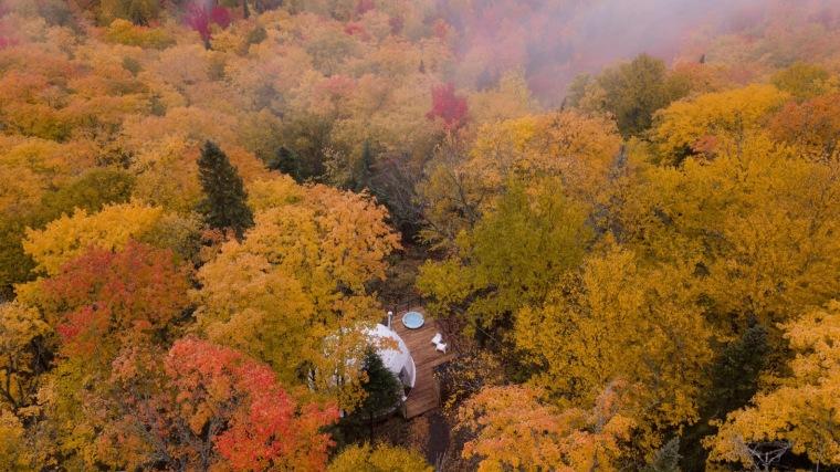 加拿大树林里的球状帐篷旅馆-4