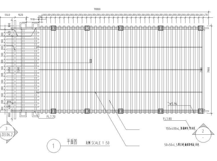 车库钢结构廊架设计详图——泛亚景观