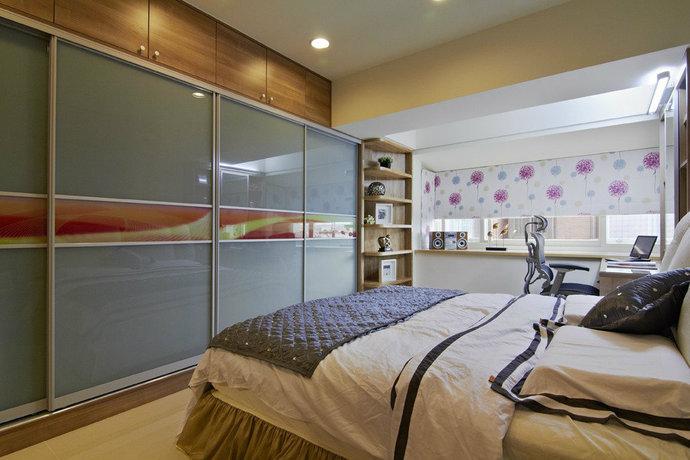 115平方米现代简约儿童房背景墙装修效果图_12