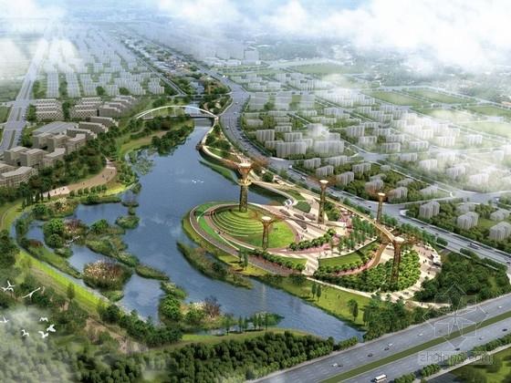 [河南]航空试验区休闲廊道水系景观设计方案