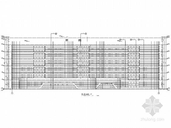 [新疆]六层框架结构广电服务中心办公楼结构施工图(含详细建筑图)