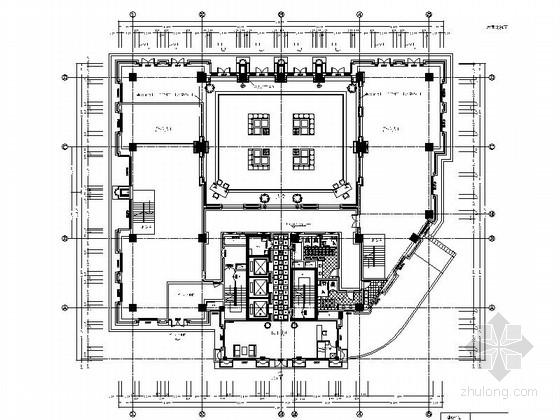 [四川]投资公司高档现代风格办公楼室内装修施工图
