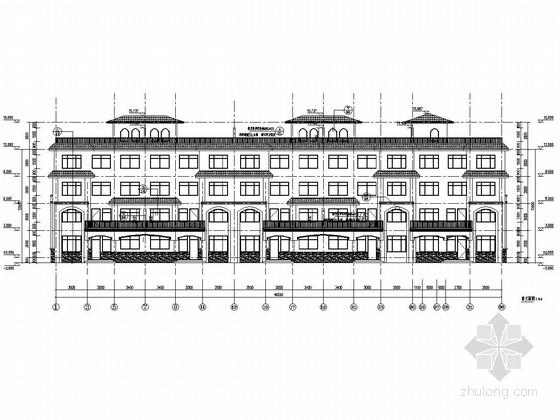 [山东]四层框架剪力墙结构南苑别墅结构施工图(含建筑图)