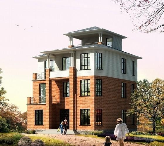 [苏州]400平米三层砖混结构别墅结构施工图(含建筑图)
