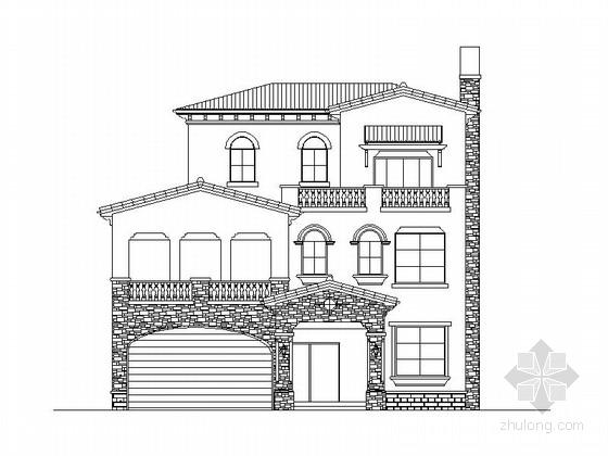 [湖南]400平3层简欧风格别墅建筑施工图