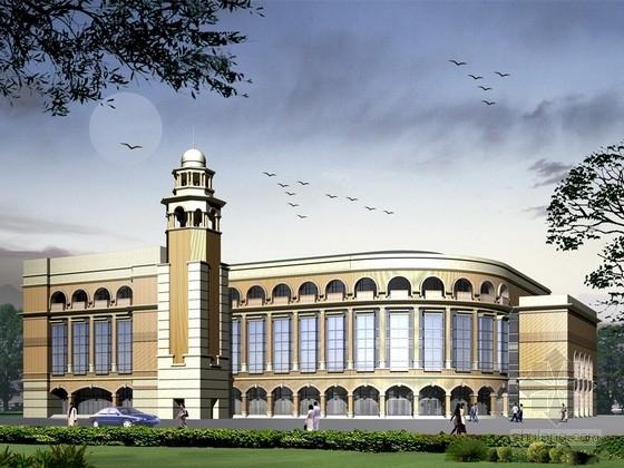 [江苏]4层现代古典风格图书发行建筑设计方案文本