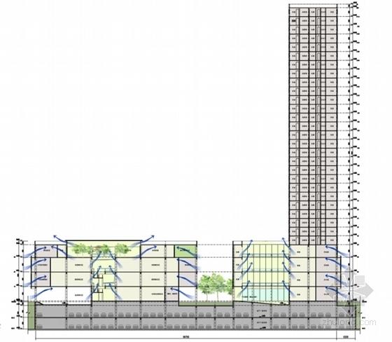 [四川]L型现代风格标准化农贸市场单体建筑设计方案文本-L型现代风格标准化农贸市场单体建筑剖面图