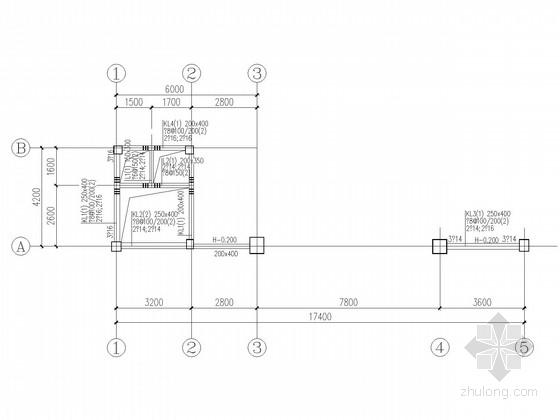 单层大门框架结构施工图(柱下独基)
