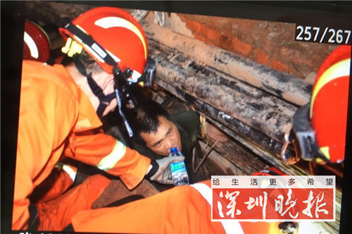 深圳一高压电缆沟开裂 砖石 泥土坍塌 两名工人被埋