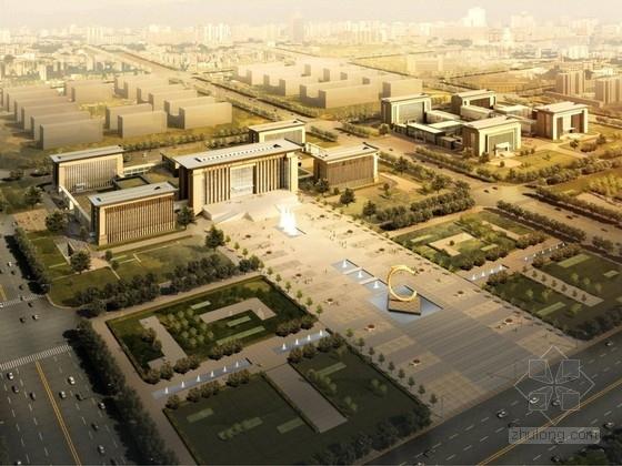 [内蒙古]大型现代风格行政办公楼及单体设计方案文本(知名研究院)