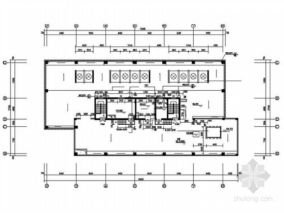 现代风格高层办公楼建筑平面图