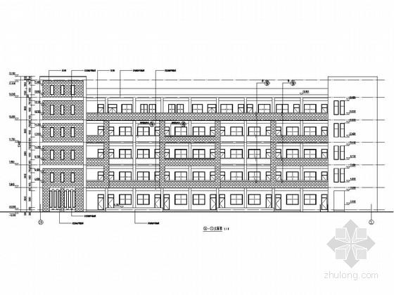 [浙江]五层框架结构实验中学教学楼结构施工图(含建筑图 回旋钻孔灌注桩)