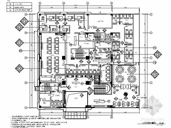 [江苏]特色现代风格四星级酒店室内装修施工图(含效果)