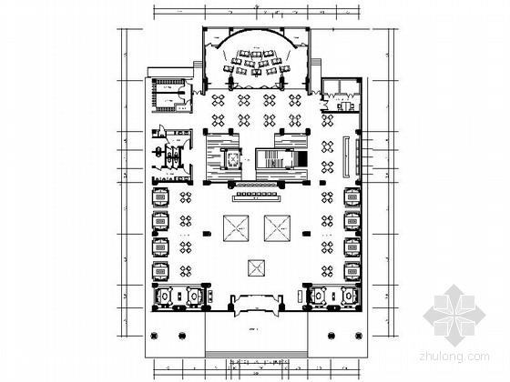 [天津]高档现代国际家访城办公室施工图(含效果)