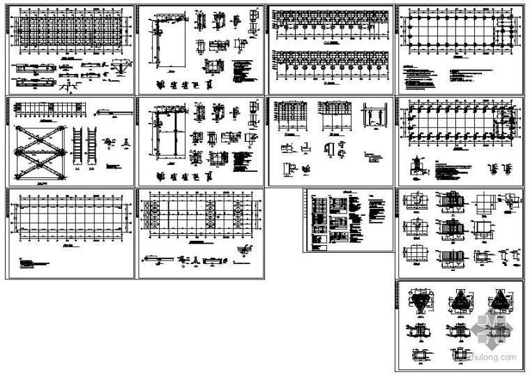 [学士]某带吊车的轻钢厂房设计图纸